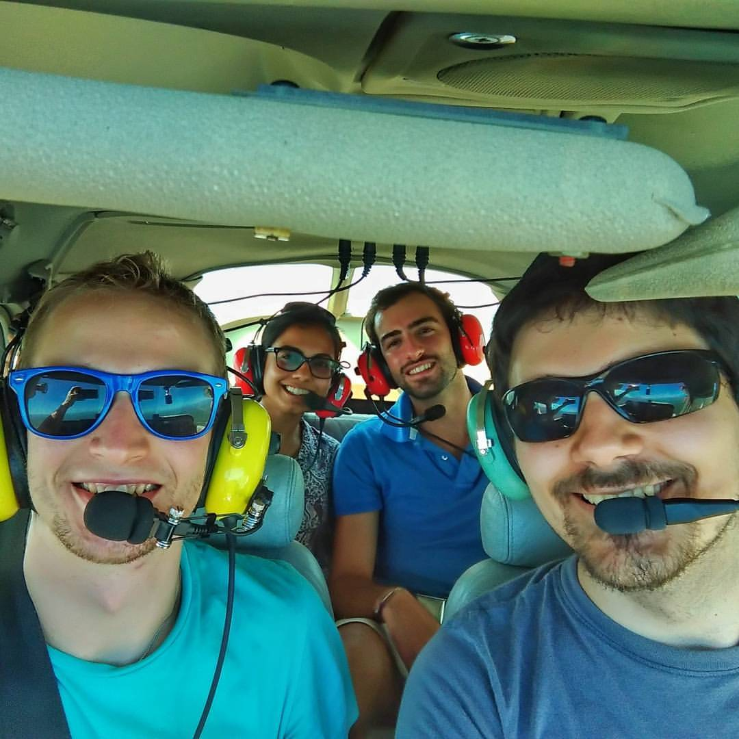 Giuseppe Alonci flying with some colleagues